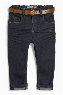 Stretch Belted Jeans (3mths-6yrs)