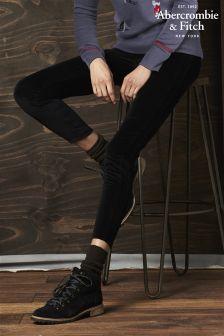Abercrombie & Fitch Black Velvet Trouser