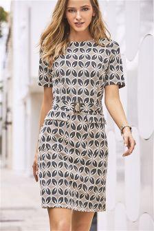 Monochrome Jacquard Dress