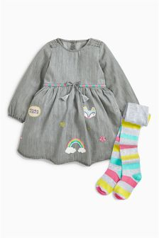 Character Dress And Tights (3mths-6yrs)