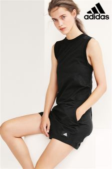 adidas Black Mesh Back Jumpsuit