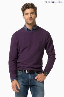 Tommy Hilfiger Purple Crew Neck Jumper