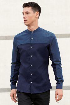 Long Sleeve Cut And Sew Grandad Shirt