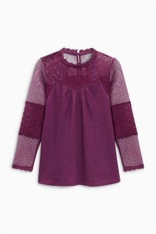 Lace Sleeve Blouse (3-16yrs)