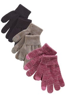 Gloves Three Pack (Older Girls)