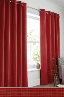 Tonal Rib Eyelet Curtains