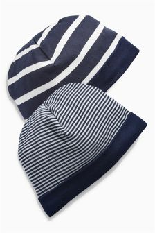 Stripe Hats Two Pack (0-18mths)