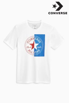 Converse White Chuck Patch Mesh T-Shirt