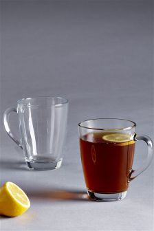 Set Of 2 Glass Mugs