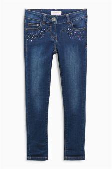 Embellished Skinny Jeans (3-16yrs)