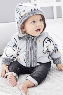 Elephant Fleece Jacket (0mths-2yrs)