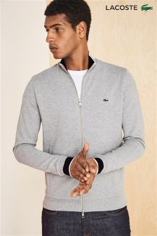 Lacoste® Grey Zip Through Fleece Sweatshirt