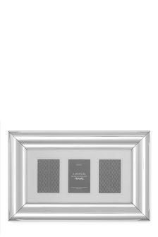 3 Aperture Metallic Collage Frame