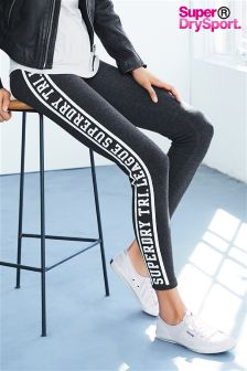 Superdry Charcoal Marl Tri League Graphic Legging