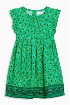 Small Pineapple Print Dress (3mths-6yrs)