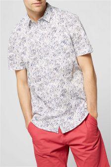 Short Sleeve Floral Printed Shirt
