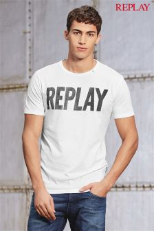 Replay® White Logo T-Shirt