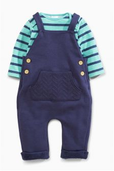 Jersey Dungarees (0mths-2yrs)