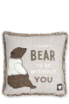 Benjamin Bear Appliqué Cushion
