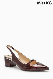 Miss KG Burgundy Amie Point Slingback