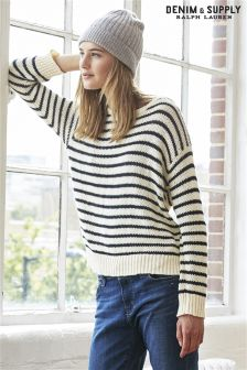 Ralph Lauren Denim & Supply Cream/Black Striped Knit