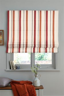 Orange Watercolour Stripe Blind