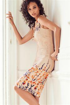 Border Print Bodycon Dress