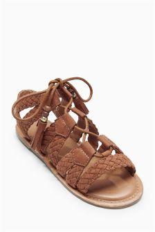 Ghillie Plaited Sandals (Older Girls)