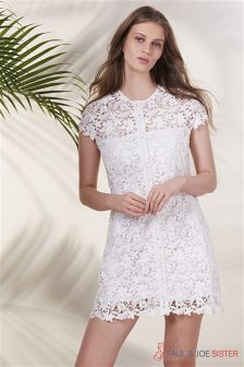 Paul & Joe Sister White Lace Dress