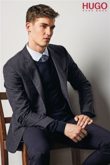 Hugo By Hugo Boss Grey Check Blazer