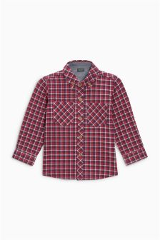 Long Sleeve Check Jersey Shirt (3mths-6yrs)