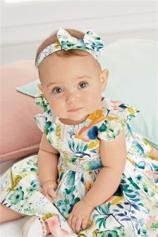 Dress, Knickers And Headband Set (0mths-2yrs)