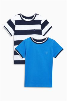 Short Sleeve Pique T-Shirts Two Pack (3mths-6yrs)
