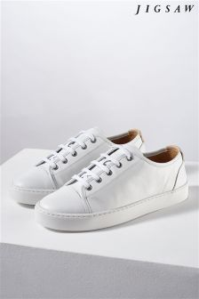 Jigsaw White Leather Trainer