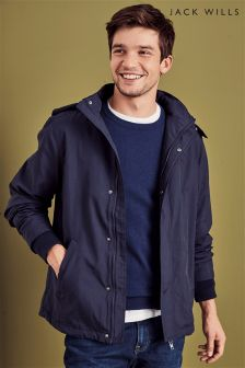 Jack Wills Navy Chedburgh Fleece Lined Jacket