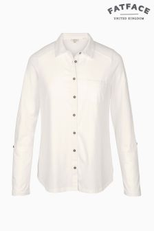 Fat Face Ivory Hayle Jersey Shirt