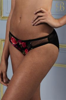 B By Ted Baker Juxtapose Rose Red Floral Hipster Thong