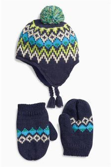 Inca Hat And Mittens Set (Younger Boys)
