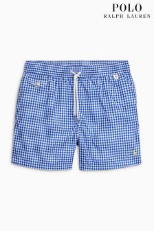 Ralph Lauren Navy Gingham Swim Short