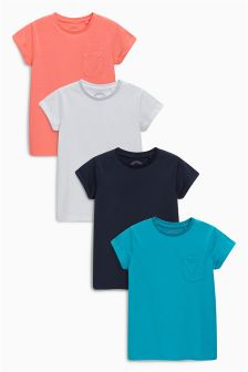 Short Sleeve T-Shirts Four Pack (3-16yrs)