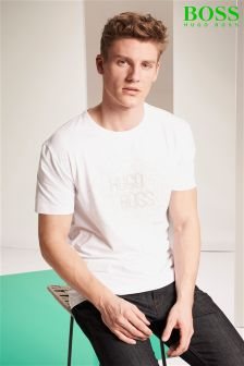 Hugo Boss Green White Logo T-Shirt