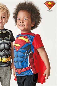 Short Sleeve Superman® Cape T-Shirt (3mths-6yrs)