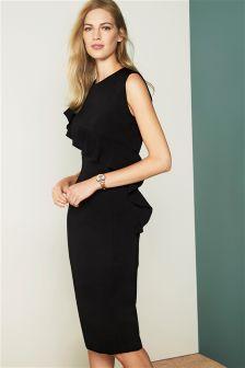 Ruffle Detail Tailored Dress