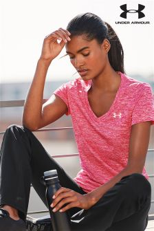 Under Armour Pink Shock Twist Tech Tee