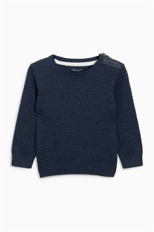 Textured Crew Jumper (3mths-6yrs)