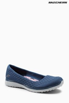 Skechers® Navy Mircoburst OneUp Memory Foam Pump