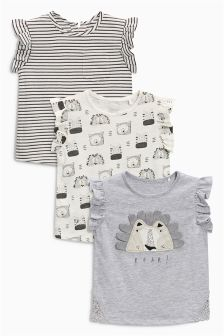 Lion T-Shirts Three Pack (3mths-6yrs)