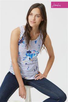 Joules Bo Print Blue Floral Vest