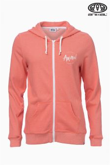 Animal Palmira Orange Zip Through Hoody