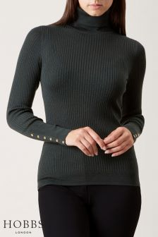 Hobbs Green Lara Rib Roll Neck